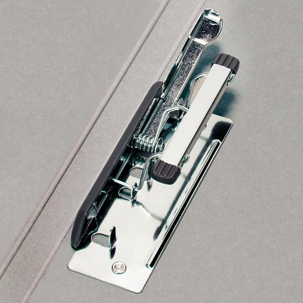 Z式パンチレスファイル A4タテ 背幅15mm 10冊 アスクル シブイロ グレー