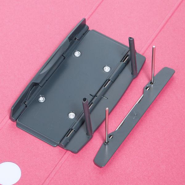 アスクル パイプ式ファイル A4タテ とじ厚50mm 10冊 シブイロ ローズ