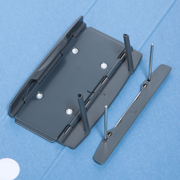 アスクル パイプ式ファイル A4タテ とじ厚50mm 10冊 シブイロ ブルー