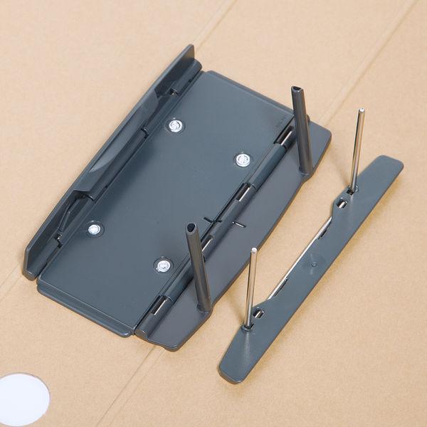 アスクル パイプ式ファイル A4タテ とじ厚50mm 10冊 シブイロ ベージュ