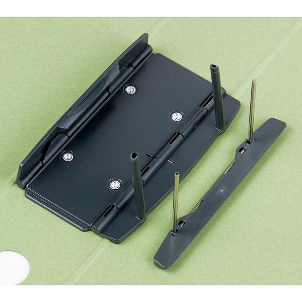アスクル パイプ式ファイル A4タテ とじ厚50mm 40冊 シブイロ グリーン
