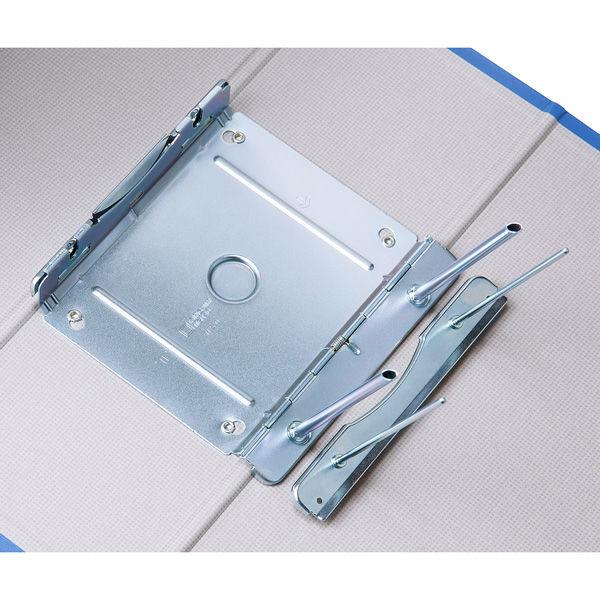 アスクル パイプ式ファイル片開き ベーシックカラー(2穴) A4タテ とじ厚100mm背幅116mm ブルー 10冊