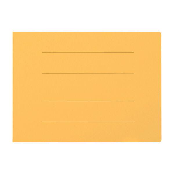 プラス フラットファイル厚とじ(樹脂製とじ具) A4 ヨコ イエロー 2穴 No.022NW 1袋(10冊入) (直送品)