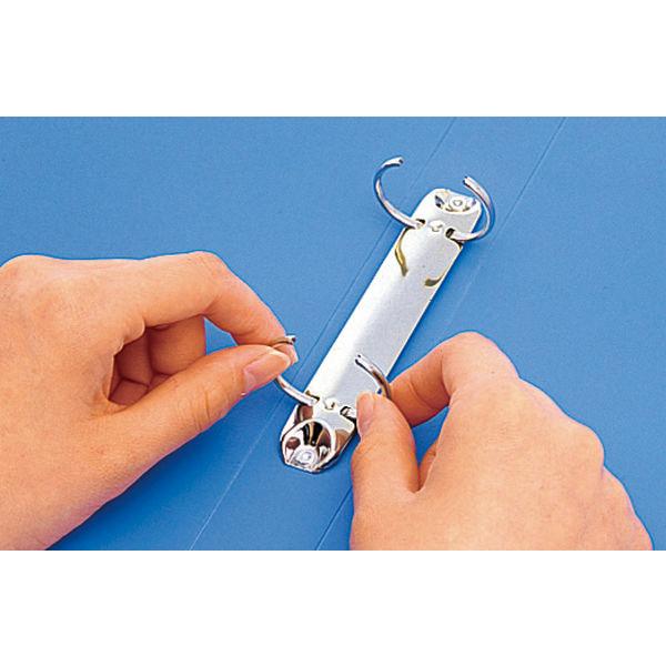 キングジム リングファイルエコノミータイプ A4タテ 背幅27mm青 611 1箱(10冊入)