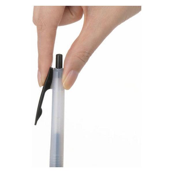 アスクル ノック式ゲルインクボールペン 0.5mm 赤 30本