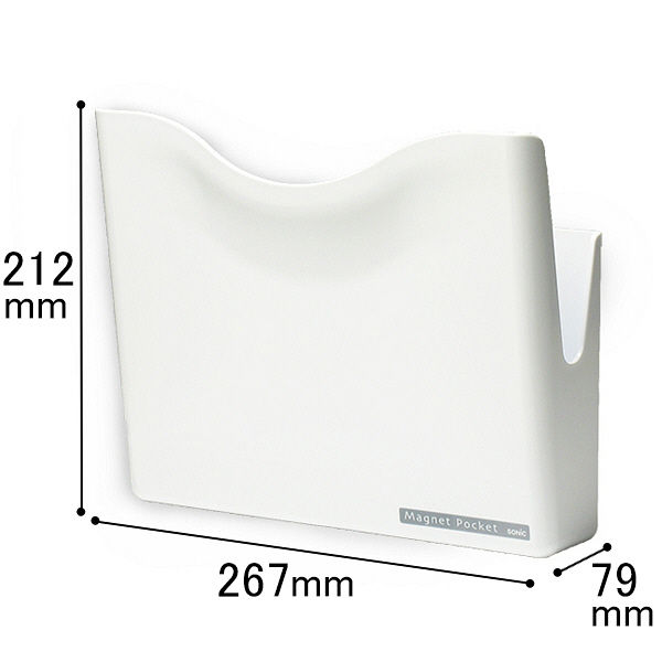 ソニック マグネットポケット A4 白 MP-447-W 1セット(3個:1個×3)