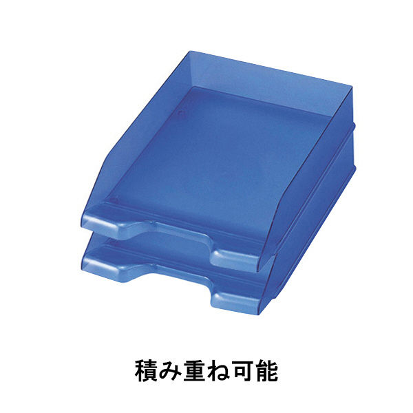 セキセイ デスクトレー A4タテ型 ブルー SSS-1246-10 5個