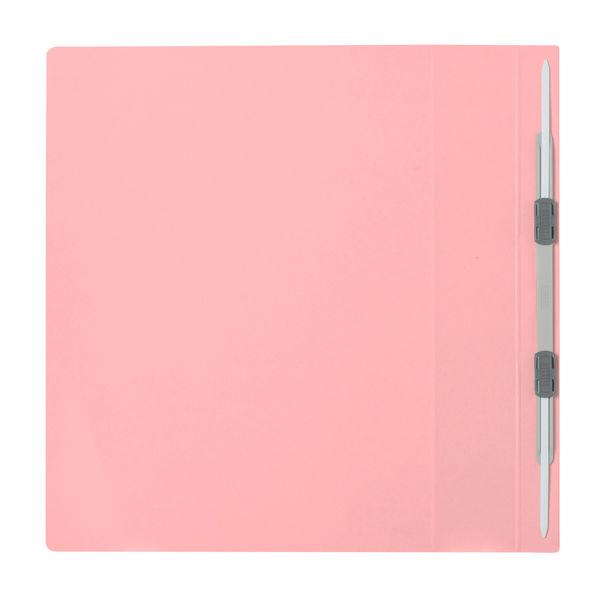 プラス フラットファイル厚とじ500 A4タテ ピンク 87988 1セット(30冊:10冊入×3袋)