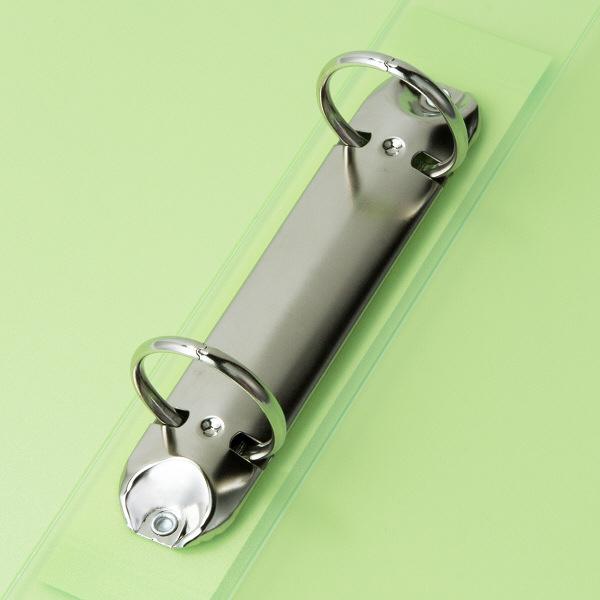 ハピラ リングファイル丸型2穴 A4タテ 背幅40mm 40冊 カラバリ グリーン