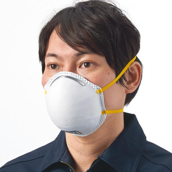 KAWANISHI INDUSTRY(川西工業) 使い捨て 【現場のチカラ】防塵マスクDS2 ホワイト AK7065 1箱(240枚)