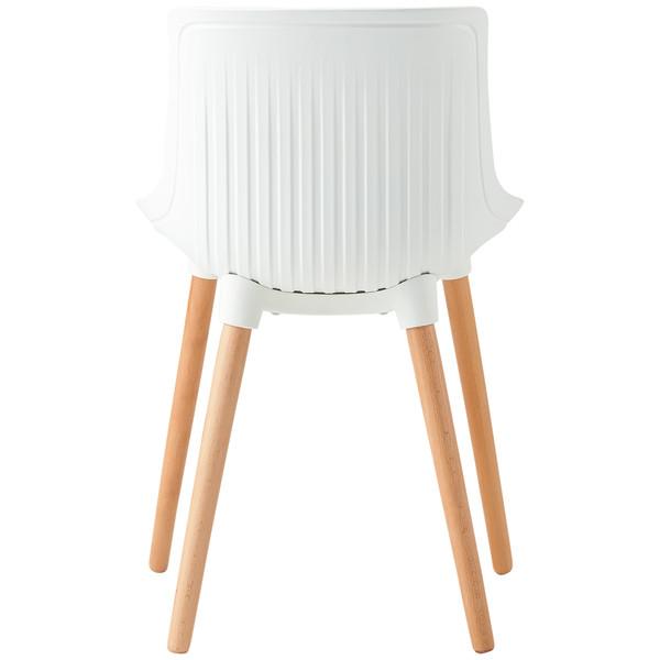 スマイル シェル型シートチェア(ホワイト) 9305-A(WH) 1脚