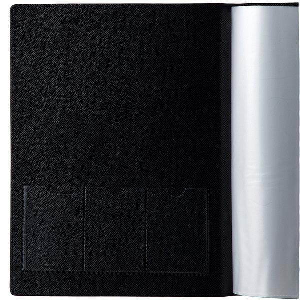 契約書ファイル 合皮製 書類保存ホルダー A4タテ 10冊 アスクル