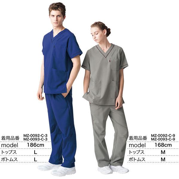 ミズノ ユナイト スクラブパンツ(男女兼用) ブラックブルー 3L MZ0093 医療白衣 1枚 (取寄品)