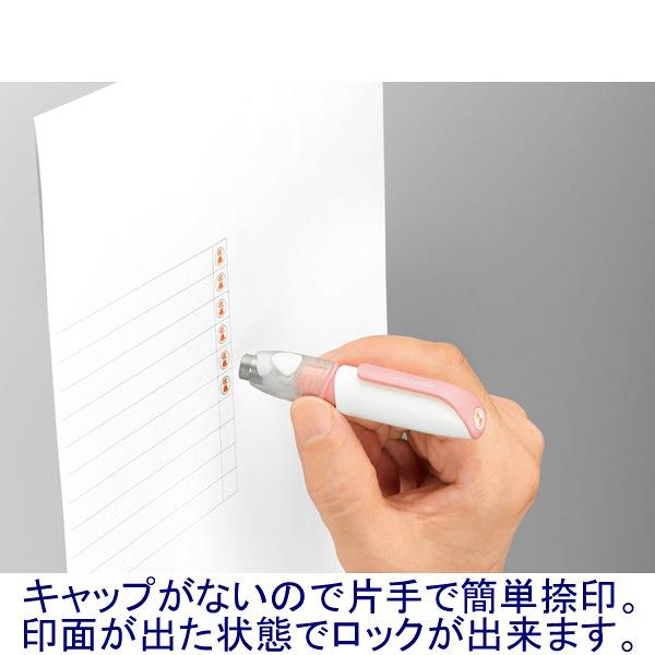 シヤチハタ ネーム6キャプレ ピンク