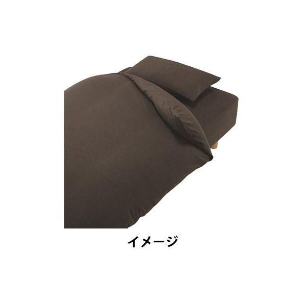 天竺敷ふとんシーツ・ゴム付きS/杢BR