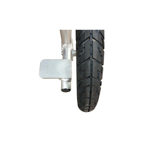 マキテック 介助車いすFINE ブラックストライプ NR-100BS 介助用 背折れ式 アルミ製 介助ブレーキ付き (取寄品)