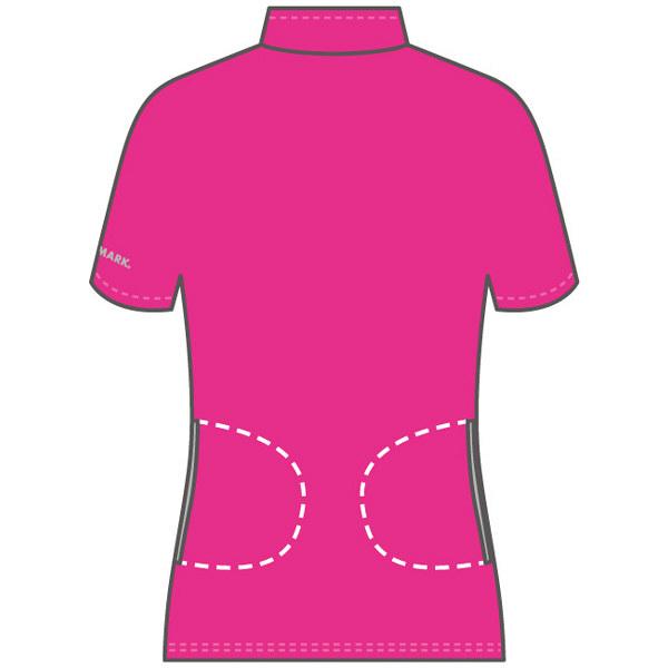 フットマーク 介護ウェア ジップアップシャツ ピンク M (取寄品)