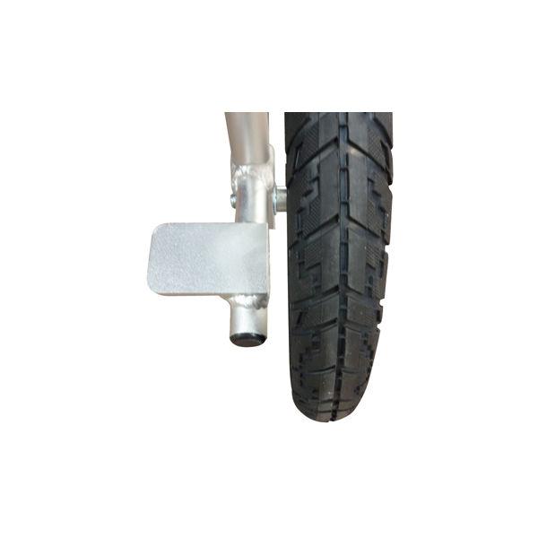 マキテック 介助車いすFINE 紺 NR-100SB 介助用 背折れ式 アルミ製 介助ブレーキ付き (取寄品)