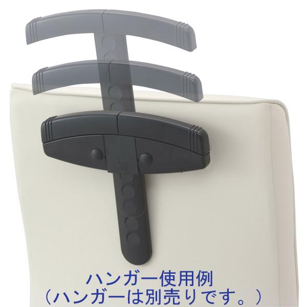 ナカバヤシ ワークレザーチェア オフィスチェア 肘無し アイボリー 1脚 (直送品)