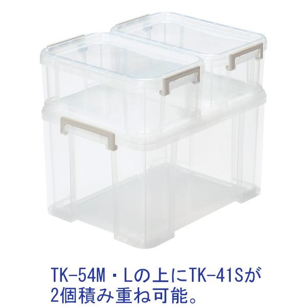 収納BOX トラックス54 L クリア