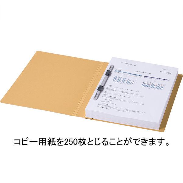 フラットファイル厚とじ 黄A4縦 10冊