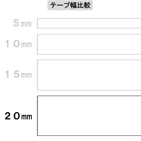 アスクル 両面テープカッターなし 幅20mm×20m