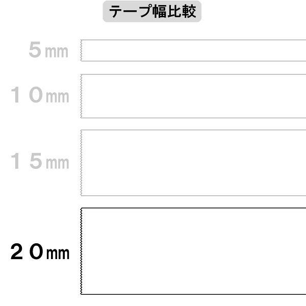 アスクル 両面テープカッターなし 幅20mm×30m