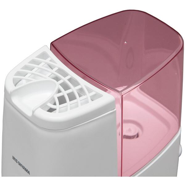 アイリスオーヤマ スチーム加湿器 ピンク