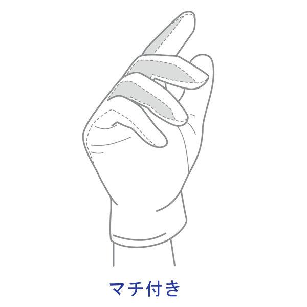 川西工業 「現場のチカラ」 品質管理用スムス手袋 マチ付き S AK001S 1袋(12双入)