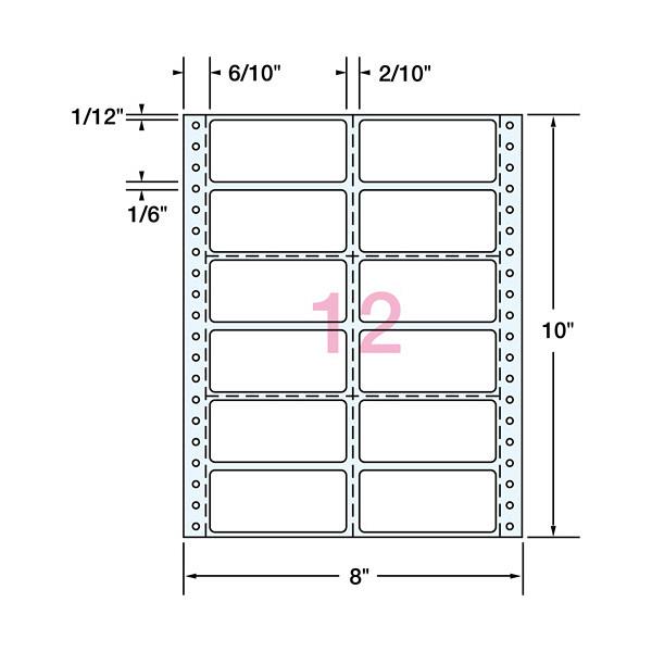プラス タックフォームラベル 12面 10 TL-080N (直送品)