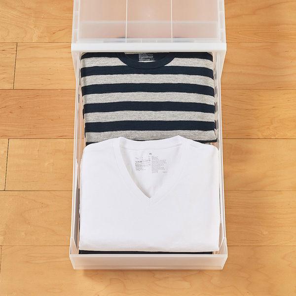ポリプロピレン衣装ケース 引出式大 2個