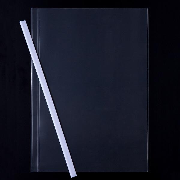 レール式クリアーホルダースリム A4タテ 10枚とじ 200冊 ホワイト アスクル