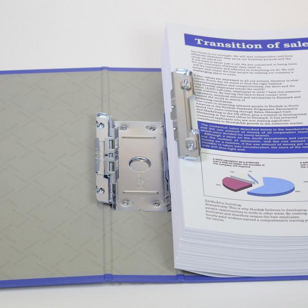 キングジム スーパードッチGXシリーズ A4タテ とじ厚80mm 青 キングジム 両開きパイプファイル 1478GXアオ