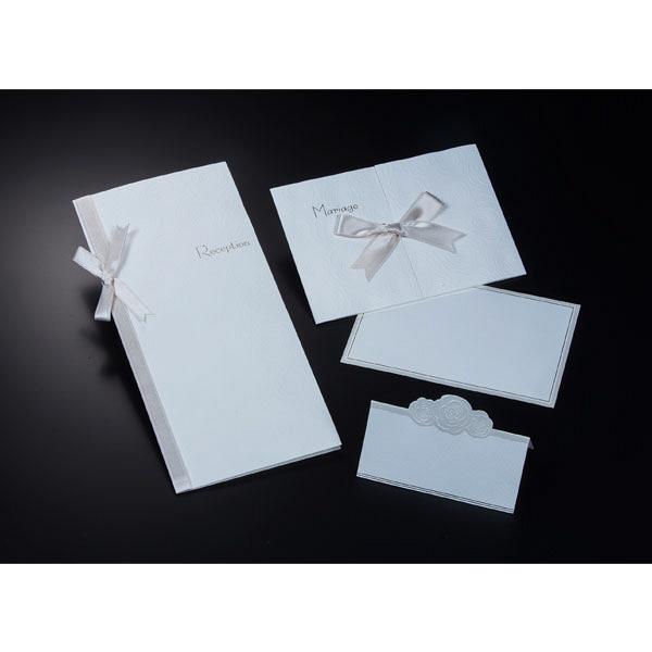 アスプルンド ウェディングカード 招待状10枚セット ホワイトローズ 中紙:幅157mm、高さ105mm P95335