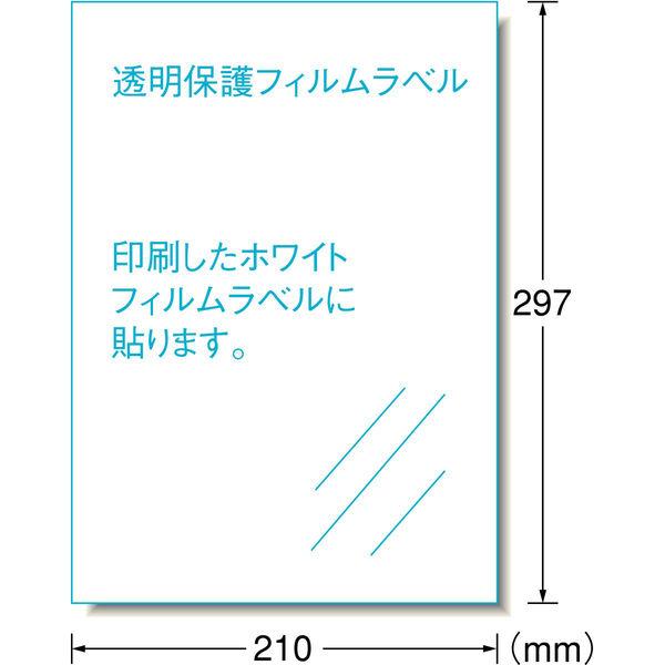 エーワン 自分で作るステッカー 耐水耐光 強粘着 インクジェット 光沢フィルム 白 A4 ノーカット1面 1袋(2セット入) 81025(取寄品)