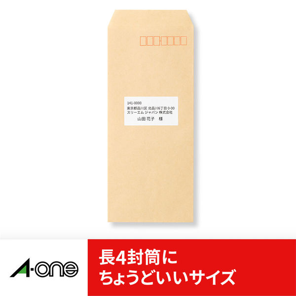 エーワン ラベルシール 表示・宛名ラベル プリンタ兼用 マット紙 白 A4 24面 1袋(22シート入) 72524(取寄品)
