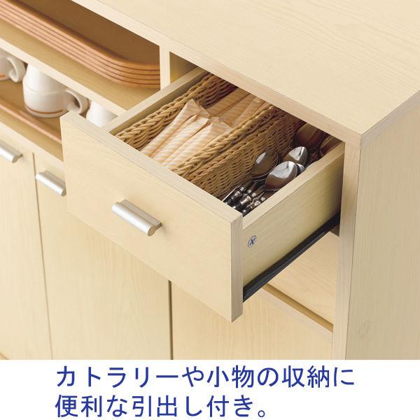 木製キッチンワゴン 引出し付