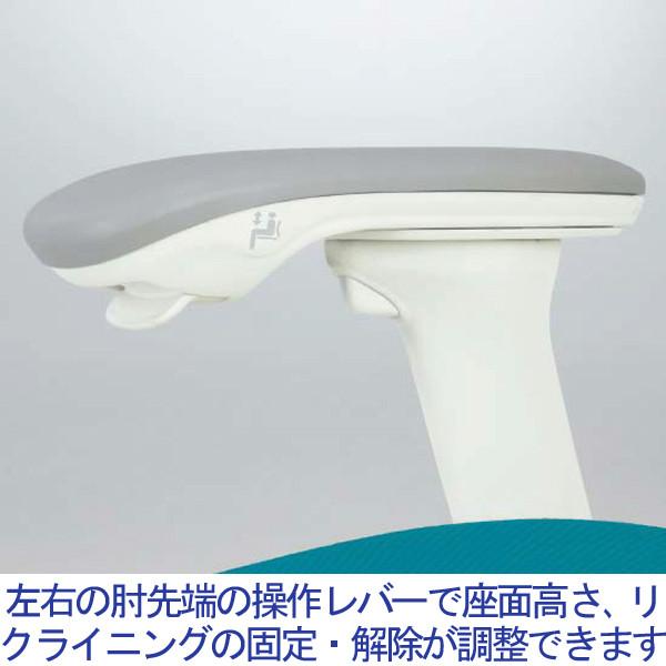 岡村製作所 サブリナ スマートオペレーション オフィスチェア メッシュ張り 肘付き ブラック C883BR FSY1 1脚