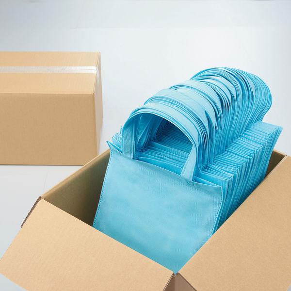 不織布手提げ袋 ブルー A4 10枚