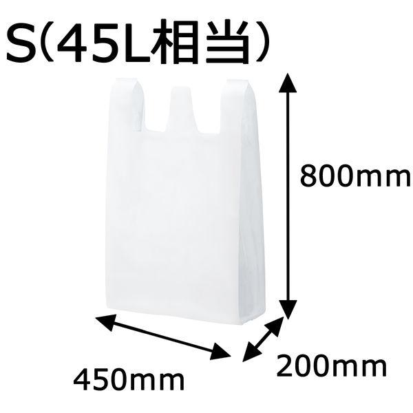 大型レジ袋(乳白) S 800×450×200mm  VCJ-45LNH 1箱(200枚:20枚入×10袋)伊藤忠リーテイルリンク