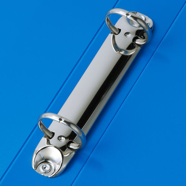 アスクル 丸型リングファイル(2穴)A4タテ背幅36mmブルー 1セット(30冊)