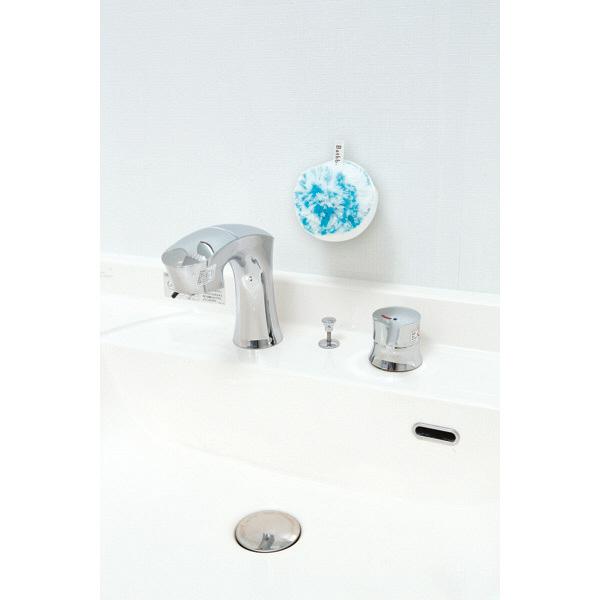 洗面台スッキリポンポン抗菌ケース付ブルー
