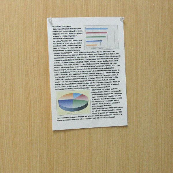 ハピラ ダルマ画鋲 クリア S4112 1セット(約180個:約60個入×3ケース)