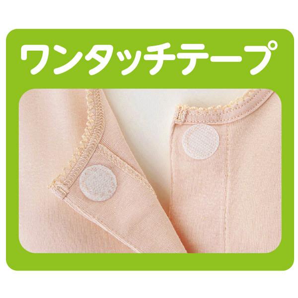 婦人7分袖ワンタッチシャツ ホワイト S 01830-14 1セット(2枚組) (取寄品)