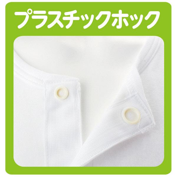 紳士7分袖乾燥機対応ホックシャツ ホワイト M 01909-01 (取寄品)