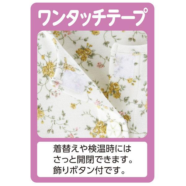 婦人ワンタッチテープパジャマ サックス L 38638-02 1セット (取寄品)