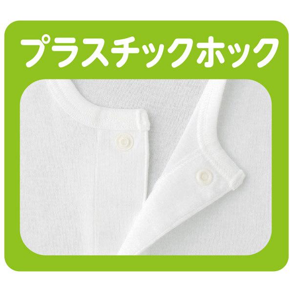 紳士7分袖ホックシャツ ホワイト L 39956-02 1セット(2枚組) (取寄品)