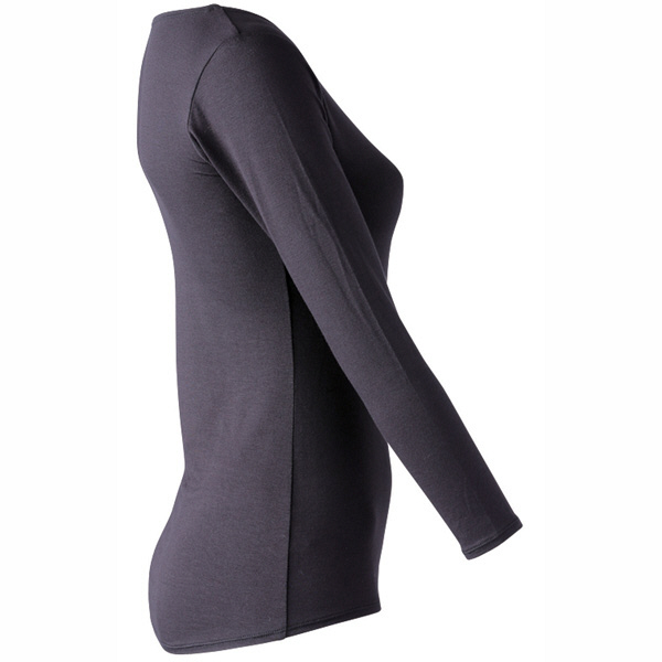 インナーシャツ ホットシャツ クルーネック 9分袖 レディス L フットマーク (取寄品)