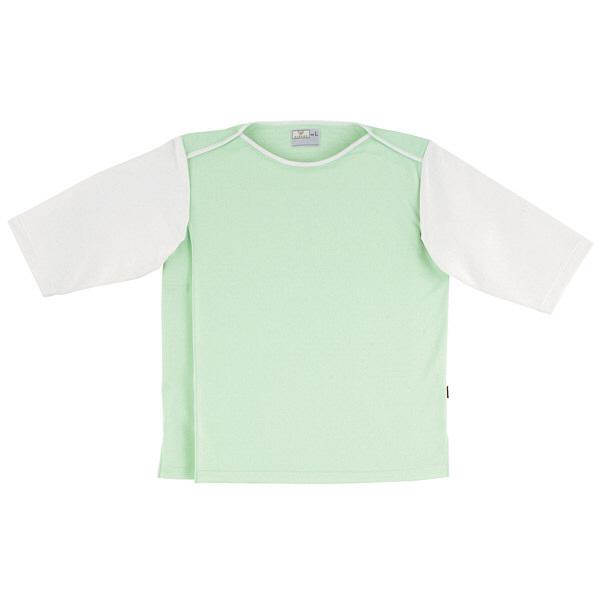 トンボ キラク 前開き検診用シャツ グリーン L CR824-37 1枚  (取寄品)