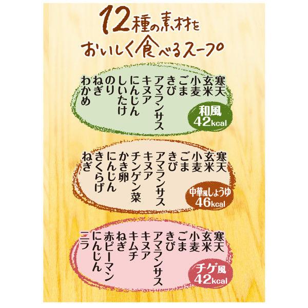 12種の素材をおいしく食べるスープ6食